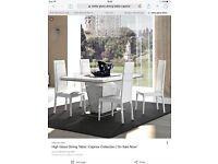 Italian White Gloss Dining Table