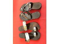 Jewelled flat sandals
