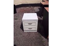 White two draw Bedside Cabinet Delver Available