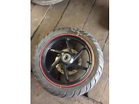 """Gilera Runner New Shape SP50 14"""" Front Wheel And Tyre"""