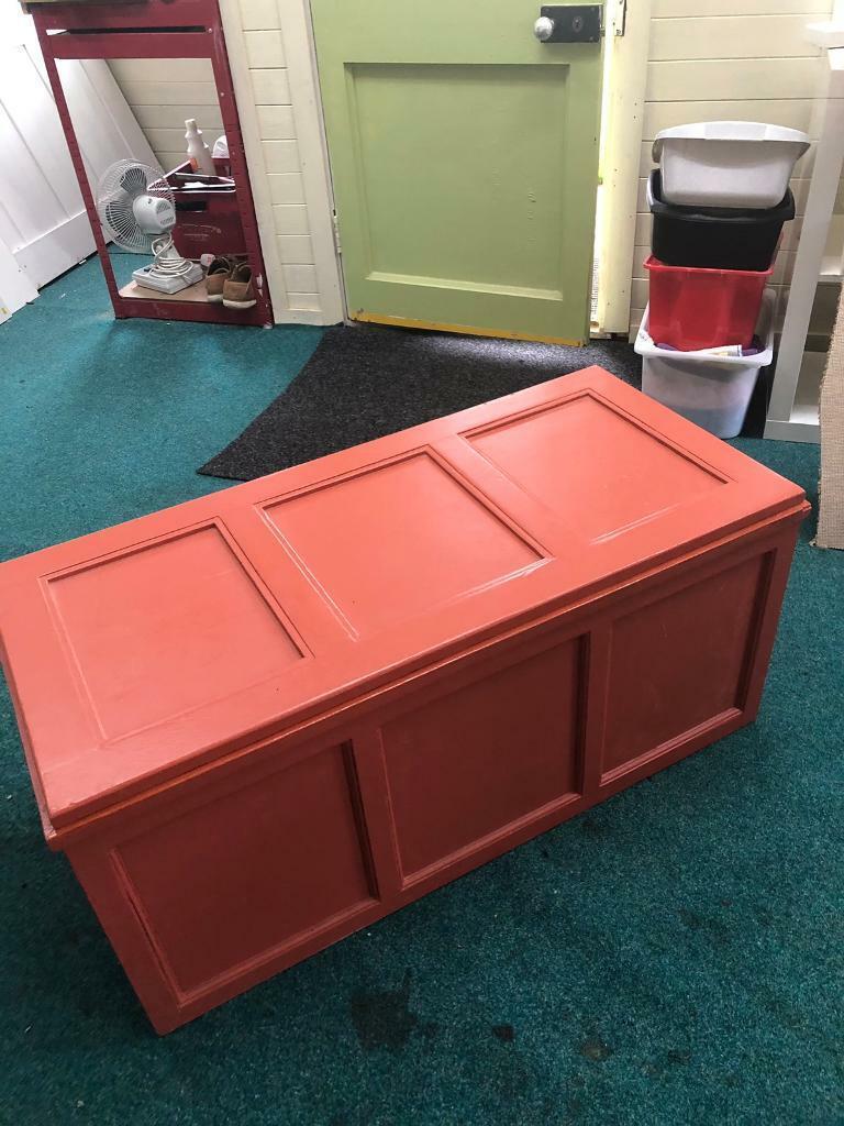 Ottomans Richmond Pine Ottoman: Blanket Box. Ottoman. Solid Pine. SOLD