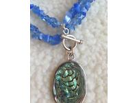 Designer blue necklace