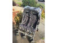 Maclaren Techno twin / double buggy £35