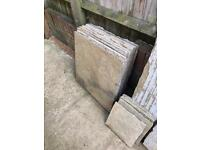 Patio slabs - worn Oxford Paving