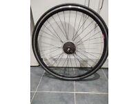 Road bike 700c Rear wheel.Tyre and 7 Speed cassette