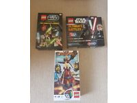 Lego star wars books, poster and lego dragon game