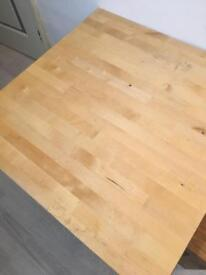 Pine square dining table