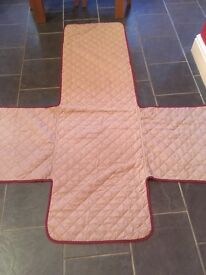 Quilted chair and sofa protectors /covers