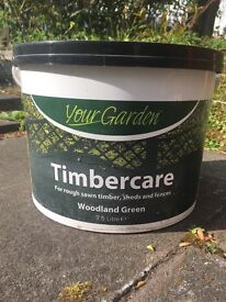 Green timbercare fence / shed paint