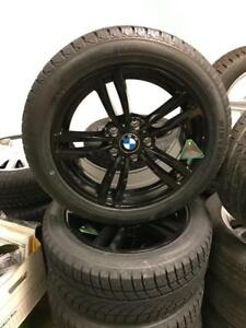 BMW X1 WINTER TIRE PACKAGE BLACK ALLOY WHEELS AND 225/50R17 SNOW TIRES BRAND NEW!