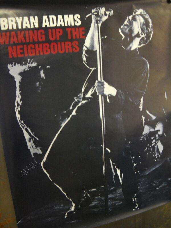 BRYAN ADAMS Large Rare 1991 record company PROMO POSTER Wake Neighbours