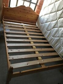 Double Bed Frame 4ft 6 - Pine