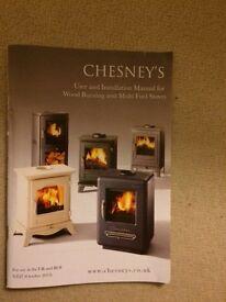 new Chesney's Log burning Stove Fire