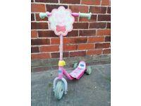 Children's Peppa Pig three wheel scooter
