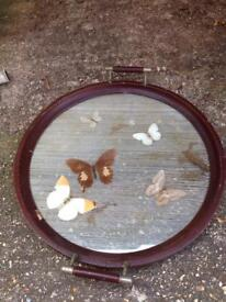 Antique butterfly tray