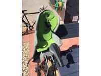 Child's seat for back of bike