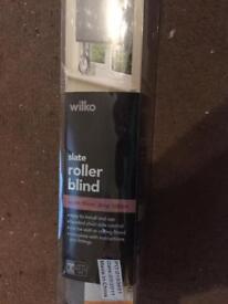 Slate coloured roller blind