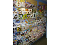 Job lot of polycarbonate Greetings Card shelves for slat walls