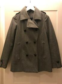 Ladies wool blend winter coat from Topshop size 6-8