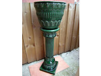 Stunning Vintage Jardinière and Pedestal (Swindon)