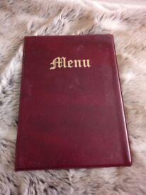 **20 menu covers **