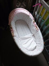 Baby Moses Basket with stand + Baby Bath
