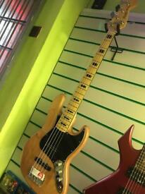 Fender Squier Jazz bass wood indo electric bass guitar *REDUCED*