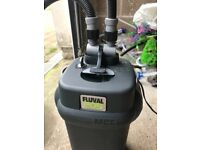 Fluval 205 external filter for fish tank v g c full work and clean all with all pipe and mediya
