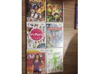 DVDs, Wii games