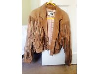Western style medium size sued jacket, in good condition.,