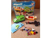 PlayMobil car and boat with trailer set