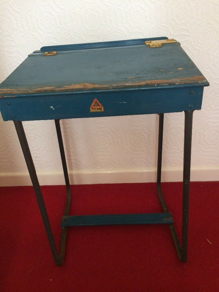 Vintage Triang Child S School Desk And Chair In