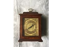 Small Wooden-Cased Carriage Clock with Beautiful Face