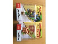 Zelda Ocarina of Time Amiibo and Link 8 bits Amiibo (BRAND NEW)