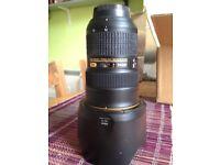 Excellent as new Nikon Nikkor AF S 24-70mm f/2.8 G ED Lens, serviced and refurbished by Nikon....
