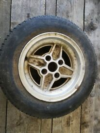 Ford RS Alloy wheels x 8, need refurbished, all wheels round, no flat spots