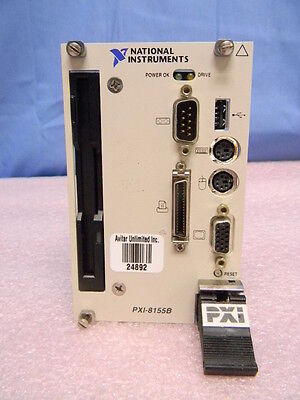 National Instruments Pxi-8155b 3u Pxi System Controller 185113h-01