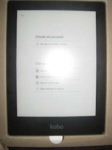 "Kobo Aura H2O Digital Book eReader. 6.8"" E Ink Touchscreen HD Display. 4GB Memory. WiFi. Water Proof. Line on Screen"
