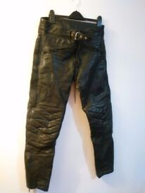 Leather Motorcycle trousers size 34
