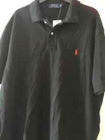 Brand new with tags Men's Genuine Ralph Lauren black polo shirt Xl