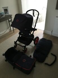 Bugaboo Cameleon 2 Limited Edition. Navy with red piping and wheels. In great condition