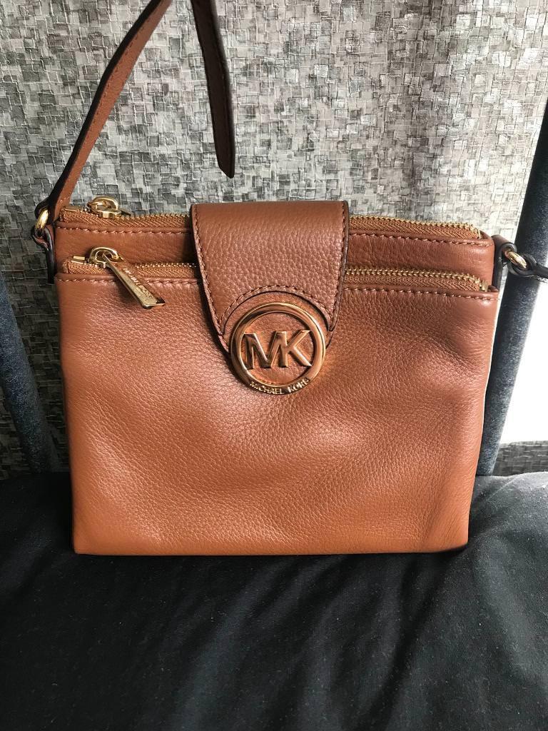 b836110a215b Genuine Michael kors small tan Fulton crossbody bag   in Pennington ...