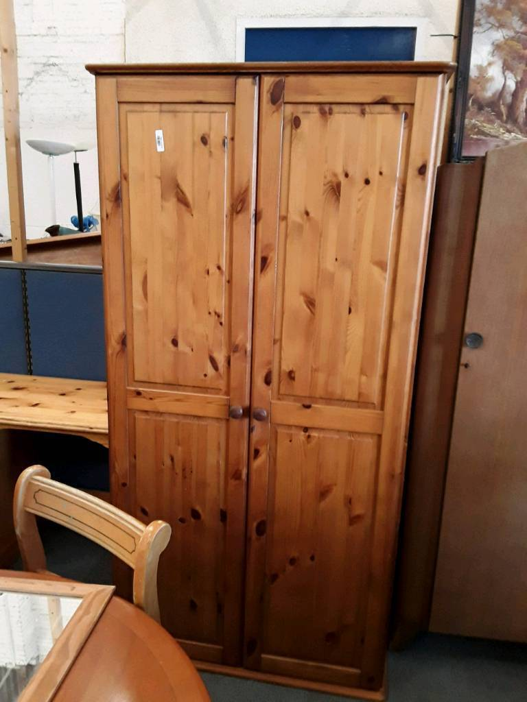 Modern Pine Single Wardrobe. Delivery Available