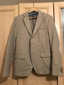 Zara mens jacket, cream fabric