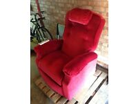Rise and Recline chair with massage function in excellent condition