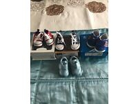 Selection of baby boys size 1 trainers