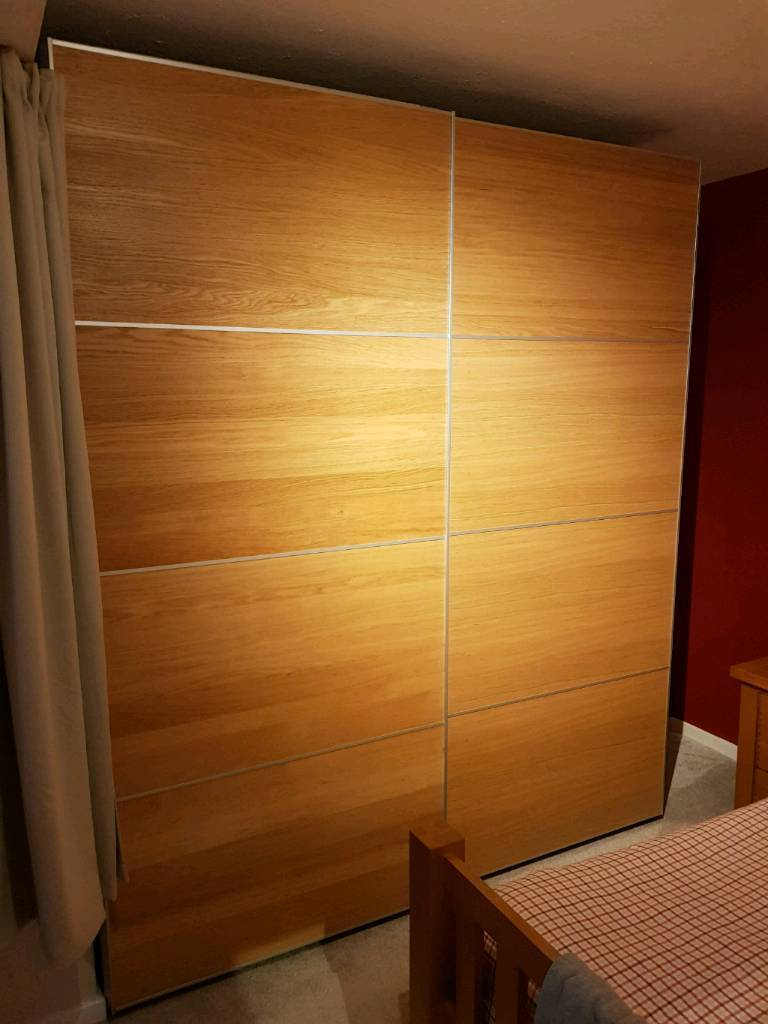 Ikea Pax Wardrobe with soft close sliding doors in oak effect | in  Brinsworth, South Yorkshire | Gumtree