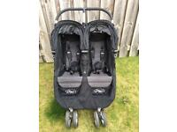 City mini baby jogger double pram pushchair buggy