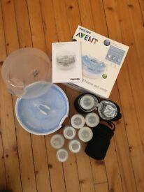 Philips Avent Microwave Steriliser and baby bottles