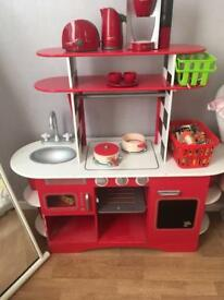 Kids retro play kitchen